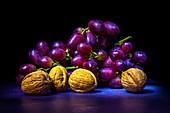 Walnuts and grapes