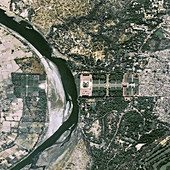 Taj Mahal, India, in 2017, satellite image