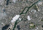 Paris, France, in 2019, satellite image