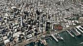 Satellite model of central San Francisco, USA