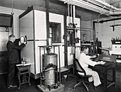 Calorimetry and metabolism research, 1910