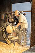 Wooden bowl factory, Michigan, USA
