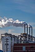 Sewage treatment plant, Michigan, USA