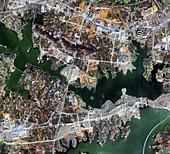 Wuhan coronavirus hospital, satellite image