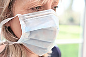 Facemask being used during coronavirus outbreak