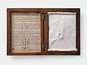 Henry Blunt's model of craters on the Moon, 1849