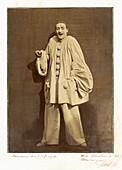 Laughing Pierrot by French mime Duburau, 1855