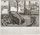 Roman engineering methods, 18th-century illustration