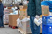 Food distribution during coronavirus pandemic