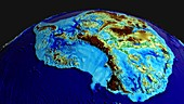 Land and seabed topography, Antarctica