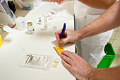 Nurses preparing medication