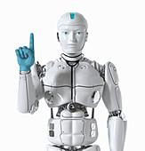 Robot doctor, illustration