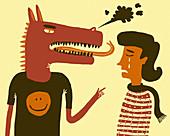 Bullying, conceptual illustration
