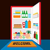 Full fridge, illustration