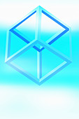Cube frame, illustration