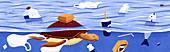 Ocean pollution, illustration