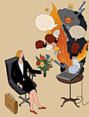Different online persona, conceptual illustration