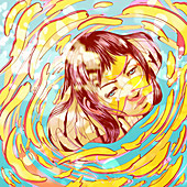 Mental health, conceptual illustration