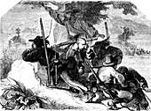Volunteer soldiers during Italian Revolution of 1848