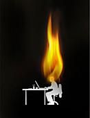 Burnout, conceptual illustration