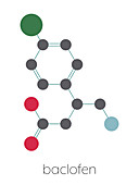 Baclofen drug molecule, illustration