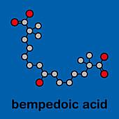 Bempedoic acid hypercholesterolemia drug molecule