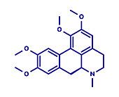 Glaucine alkaloid molecule, illustration