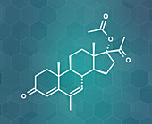 Megestrol acetate appetite stimulant drug molecule