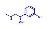 Phenylephrine nasal decongestant drug molecule, illustration