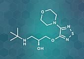 Timolol beta-adrenergic receptor antagonist drug molecule