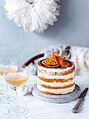 Weihnachtliche Orangen-Tiramisu-Torte