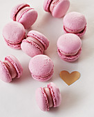 Pink macarons for Valentine's Day