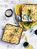 Salmon Mornay Pie with Celeriac Mash