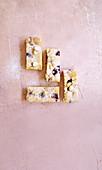 White Chocolate Macadamia and Raspberry Blondie