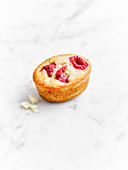 Raspberry and white chocolate friands