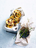 Mini Caramelised Onion and Goat s Cheese Quiches