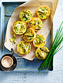 Mini Chicken and Asparagus Quiches