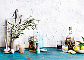 Background, tumbler, salt, shaker, jug, jar, pot plant, plants