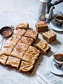 Blechkuchen mit Kaffeecreme