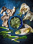 Geröstetes Gemüse mit Hanföl-Pesto