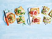Sesame Tahini Crackers with Toppings