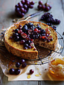 Ricotta and Choclate CheeseCake with Grapes