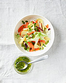 Sautéed vegetables with a herb vinaigrette