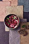 Beetroot cream cheese