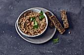 Vegan mushroom and almond spread