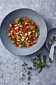 Vegan minestrone with white beans