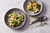 Roasted fennel with herb tofu and honey