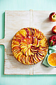 Bake in Cover - Romancing the stone - Nectarine & Almond Tart