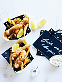 Fish And Chips mit Remoulade