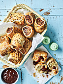 Dill and Caraway Sausage Rolls